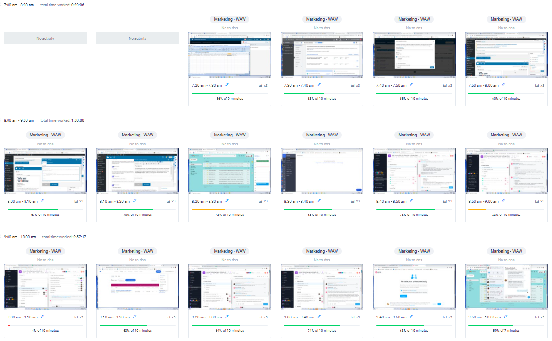 Employee Screenshot Monitoring